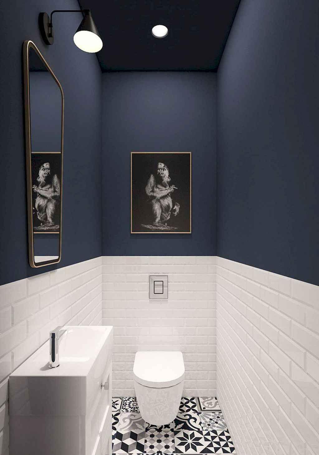 80 Cool Small Bathroom Remodel Ideas Spaciroom Com Idee Toilettes Idee Deco Wc Deco Toilettes