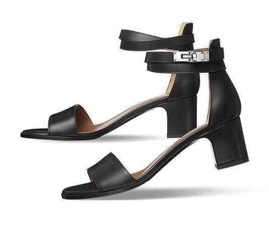5b4bf7f57 HermèsManège Hermes ladies  sandal in calfskin