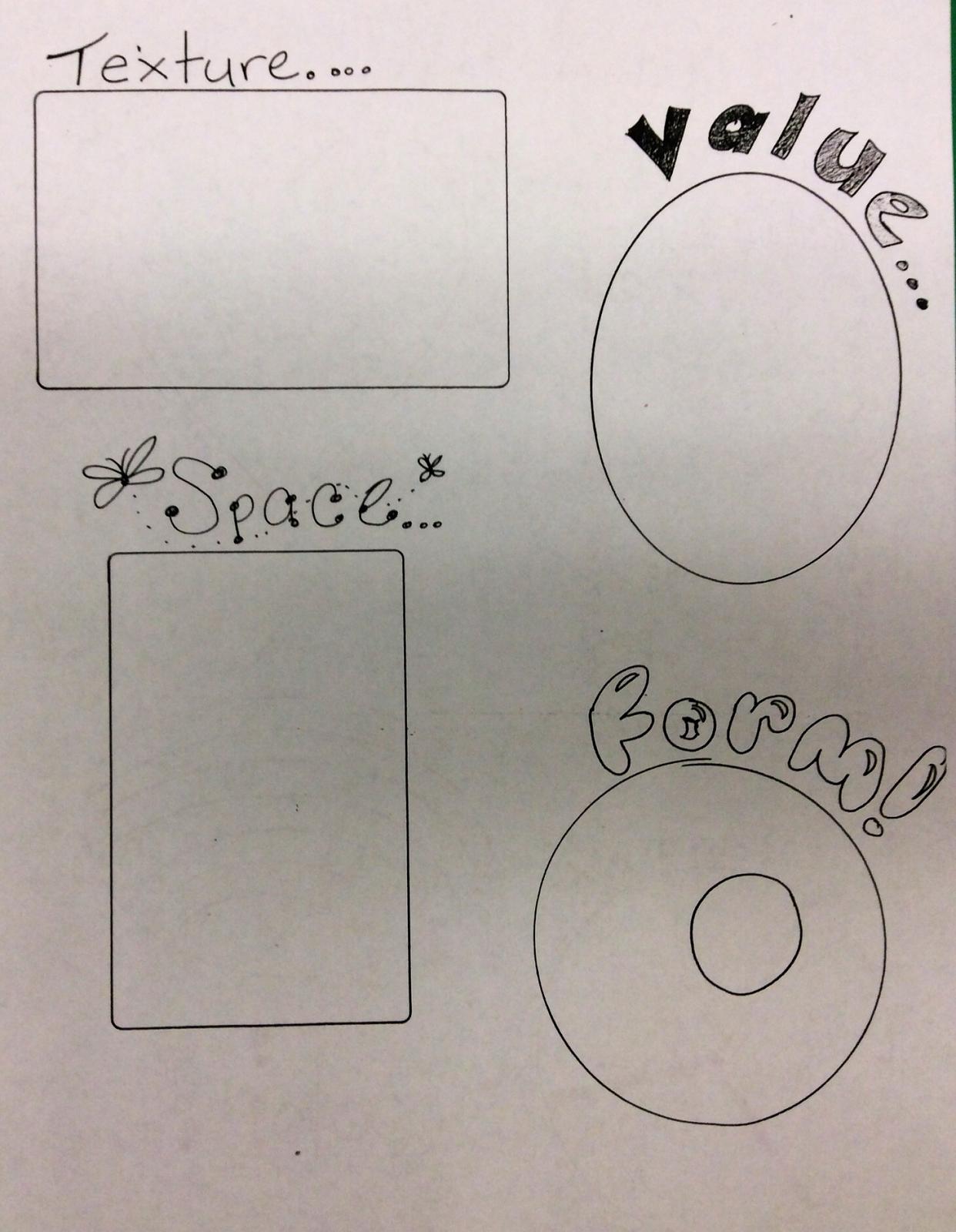 The Kreative Klassroom Elements Of Art Worksheet To