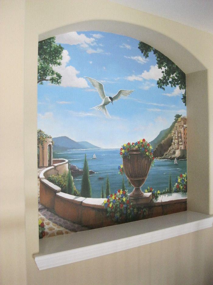 Roman Greek Niche Trompe Loeil Wall Murals In 2018 Pinterest