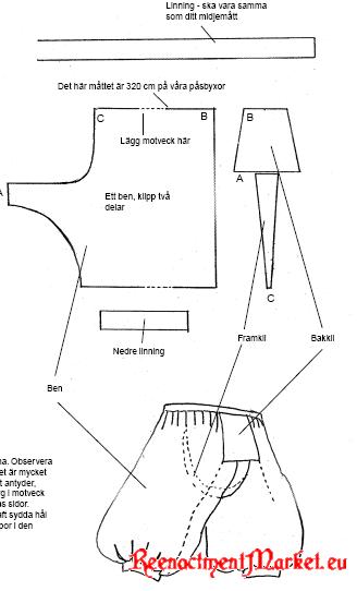 Scandinavian / Viking/Rus/Varangian Trousers - Pasbyxor Looks like ...