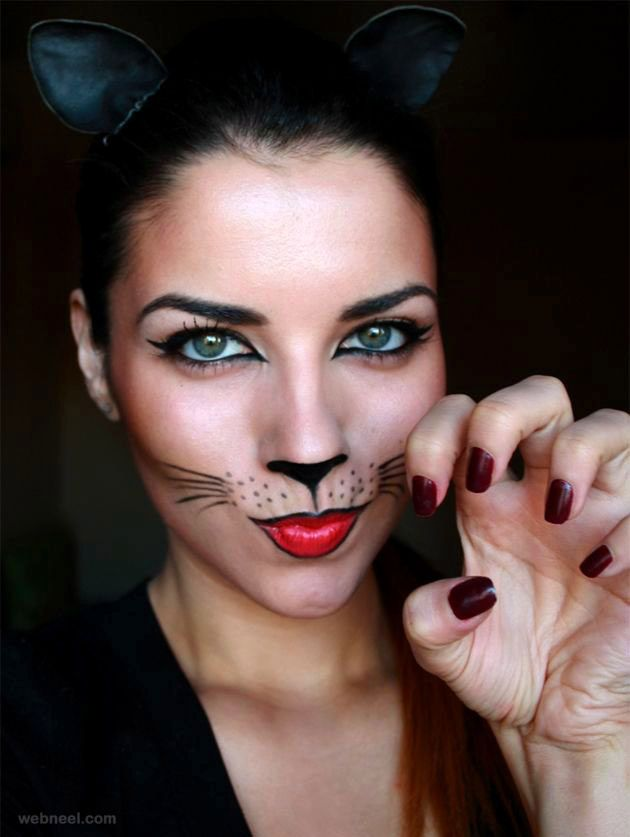 40 beautiful face painting ideas from top artists around the world - Female Halloween Face Painting