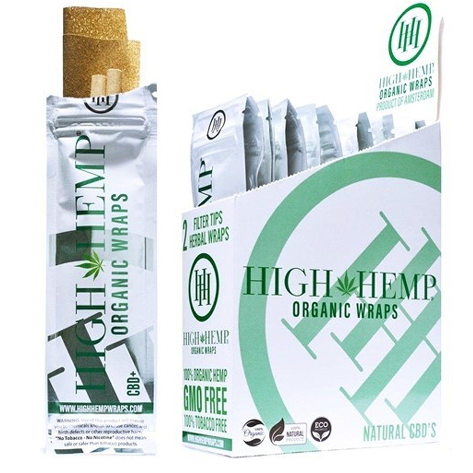 High Hemp Organic Wraps Original Full Box 25 Wraps Hemp