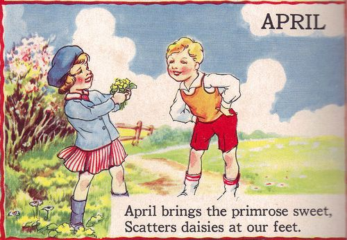 "APRIL - The Bumper Book; A bumper crop of good stories and poems to grow on"" Illustrated by Eulalie Edited by Watty Piper 1946"