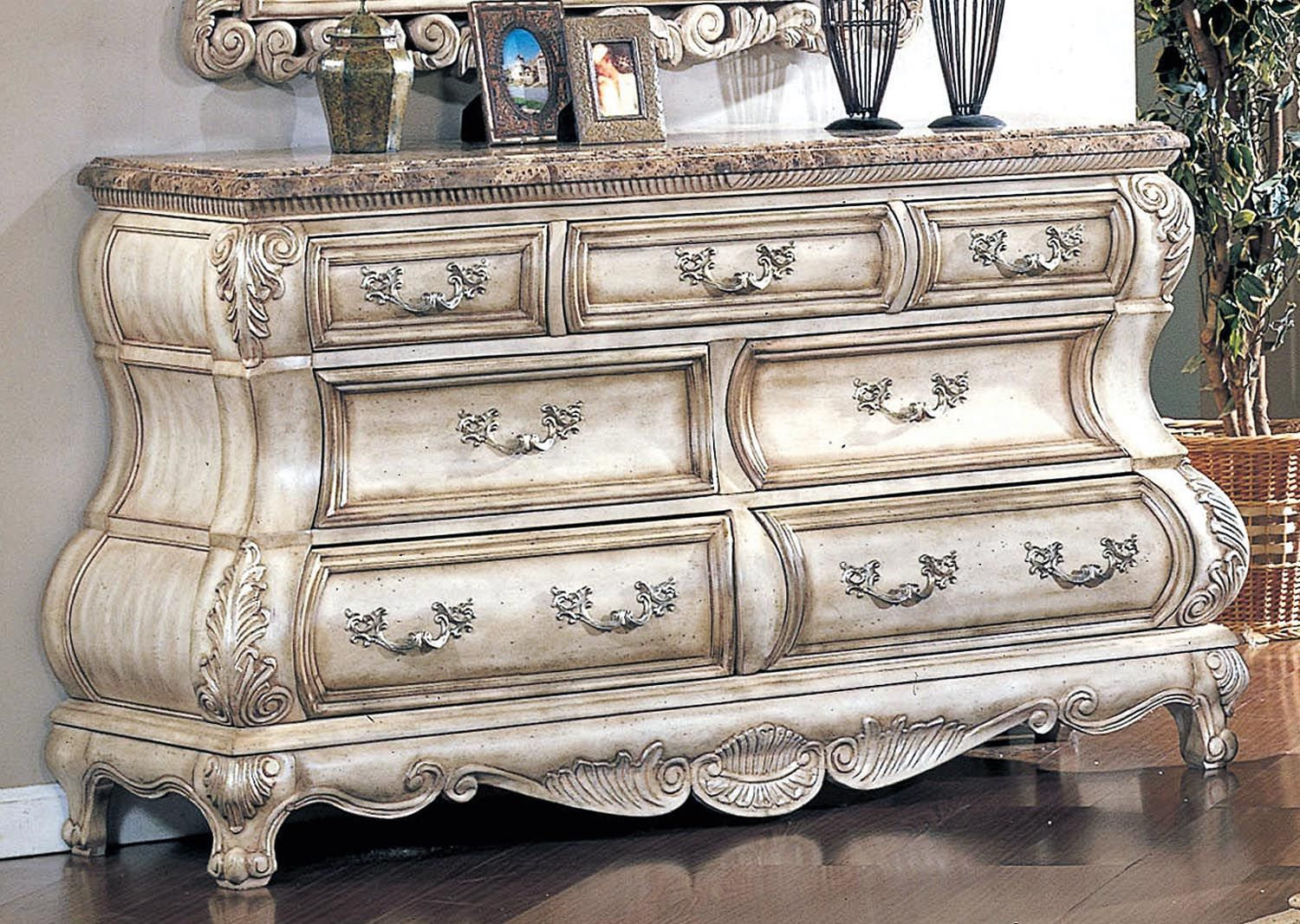 Victorian inspired antique white luxury dresser marcia pinterest