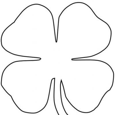 Four Leaf Clover Coloring Page Leaf Coloring Page Four Leaf Clover Drawing Clover Craft
