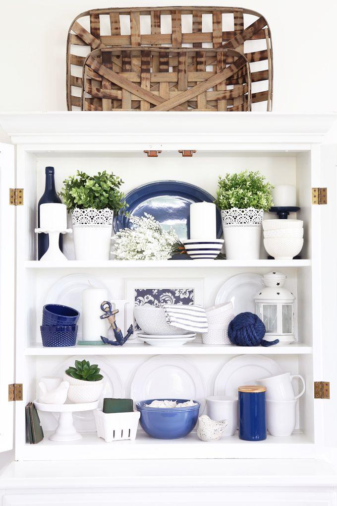 seasonal simplicity summer home tour navy home decor blue kitchen decor decor on kitchen decor blue id=19149