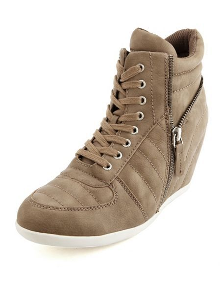 Quilted Side Zip Wedge Sneaker: Charlotte Russe Just ordered these! Obsessed with them! <3