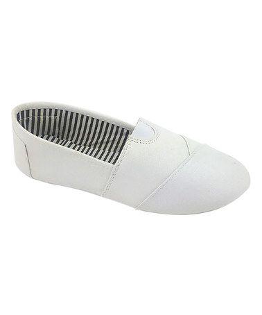 White Tammy Slip-On Shoe #zulily #zulilyfinds