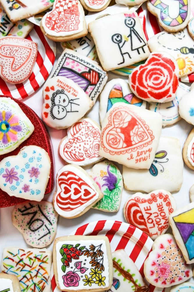 Valentine S Day Sugar Cookies Recipe Mini Doodle Journals