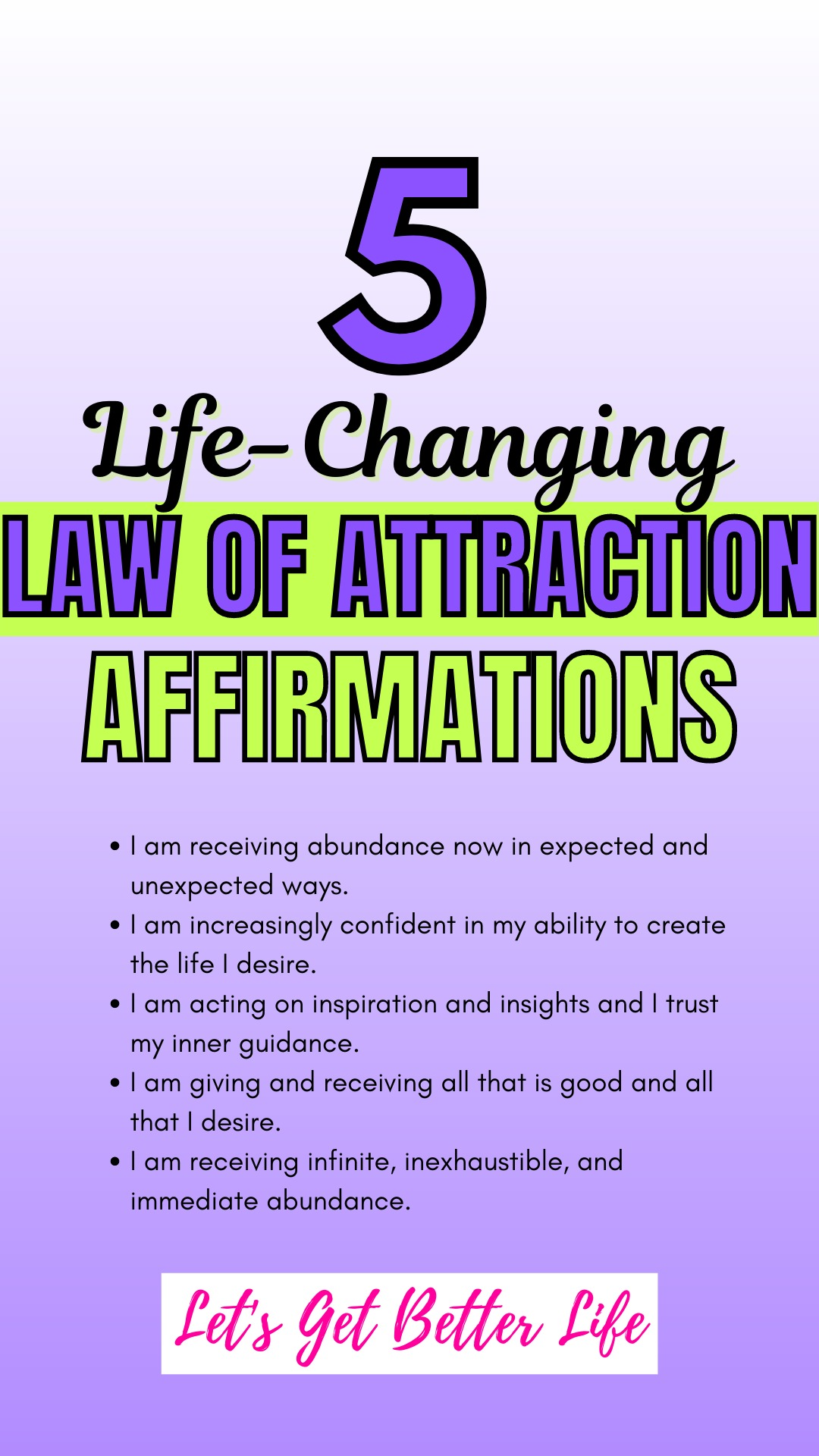 5 Life-Changing Law of Attraction Affirmations