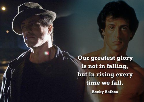 Rocky Balboa 1 Motivation Boxing Greatest Glory Quote Print Inspirational Poster