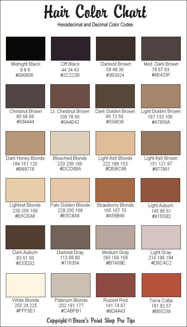 Hair colors (downloaded)   Hair, Body, & Makeup   Skin color