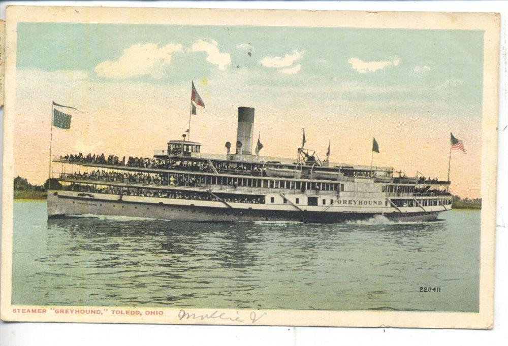 """Greyhound"" Steamer_Toledo, Ohio Great lakes ships"