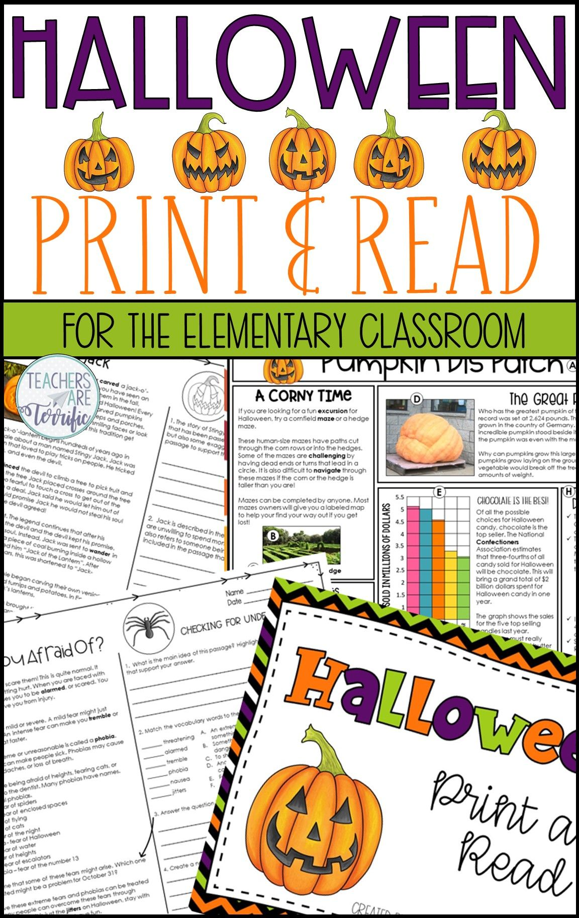 Let S Get You Ready For Halloween This Has Been Designed For Those Students You Have That Halloween Reading Passages Nonfiction Text Features Nonfiction Texts [ 1824 x 1152 Pixel ]