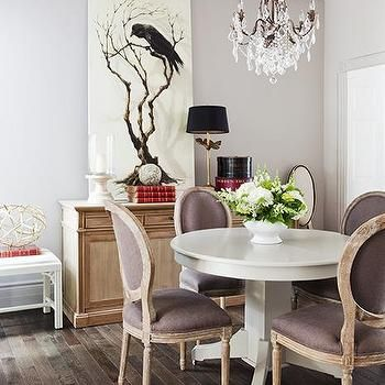 Dining Room Pedestal Table White Pedestal Dining Table Transitional Dining Room Samantha