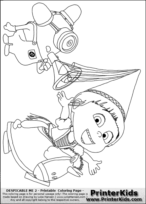 Despicable Me 2 - Agnes and Minion #1 - Coloring Page | Paper craft ...