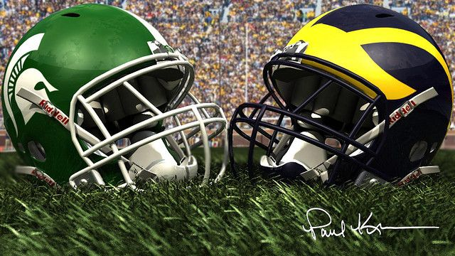 The Battle For The Mitten Michigan State Vs Michigan Michigan State Football Michigan Wolverines Football Michigan Football