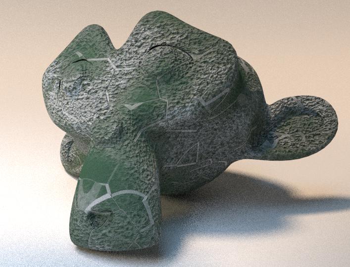 node setup for random stone/moss texture