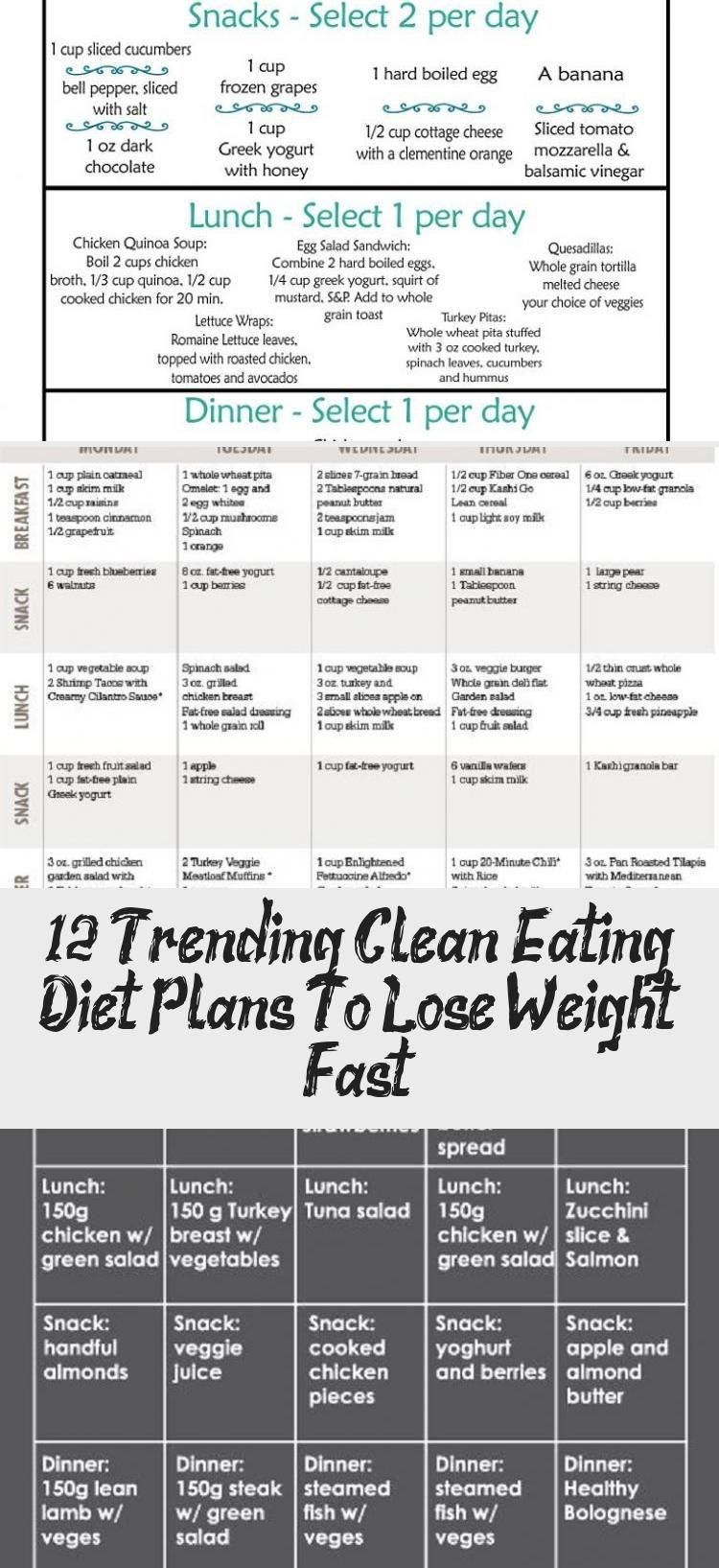 12 Trending Clean Eating Diet Plans To Lose Weight Fast - health and diet fitness  Healthy Eating Me...