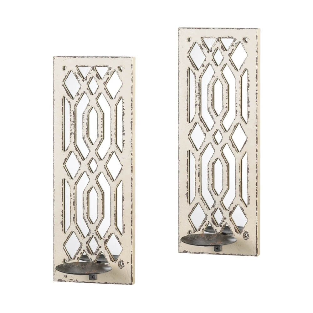 Deco mirror wall sconce set wall sconces walls and products deco mirror wall sconce set amipublicfo Images