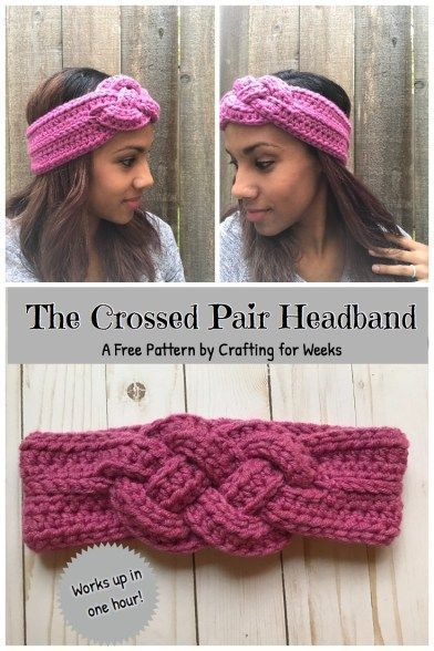 Quick And Easy Crochet Headbands And Ear Warmers - FREE Patterns | Peanut And Plum