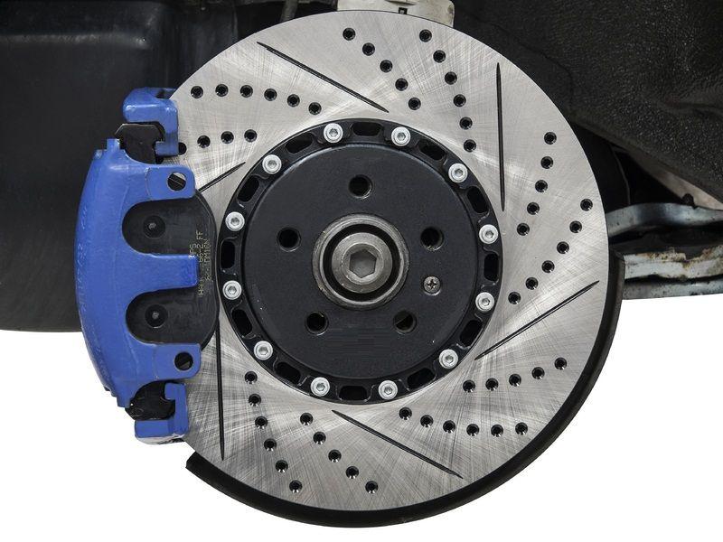 F+R Cross Drilled Rotors /& Ceramic Pads for 2016 Honda Accord LX//LX-S