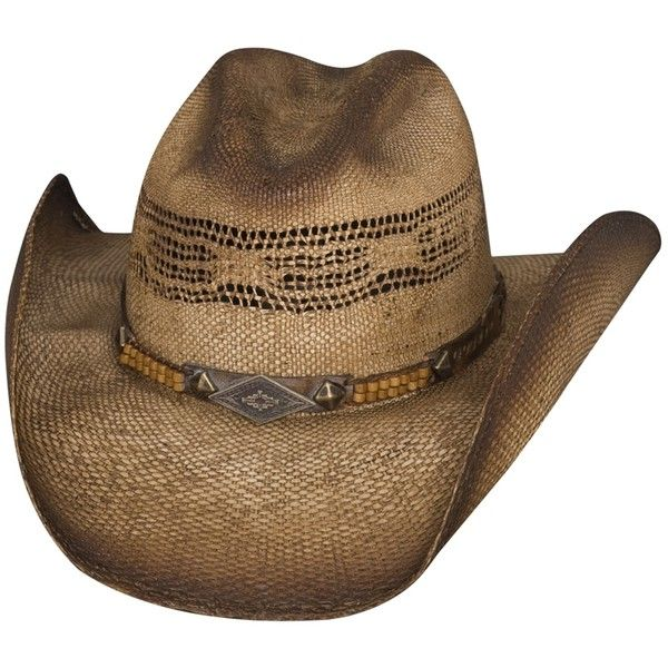d96b9e5a3530c Montecarlo Bullhide Hats FULL SPEED Bangora Straw Western Cowboy Hat... ❤  liked on Polyvore featuring accessories