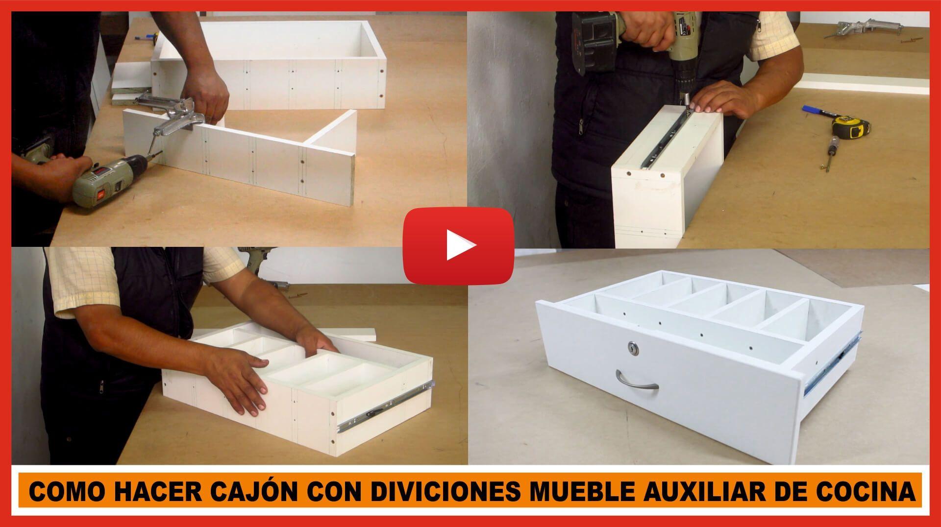 Como construir una gaveta para la cocina de melamina for Como hacer muebles de cocina en melamina pdf