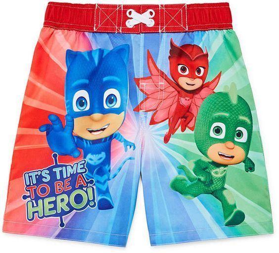 777bdda461 PJ Masks Catboy Owlette Gekko Swim Trunks Toddler Boys size 3T 5T NEW  https:/