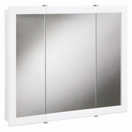 Design House Concord Tri View Medicine Cabinet Mirror With 3 Doors