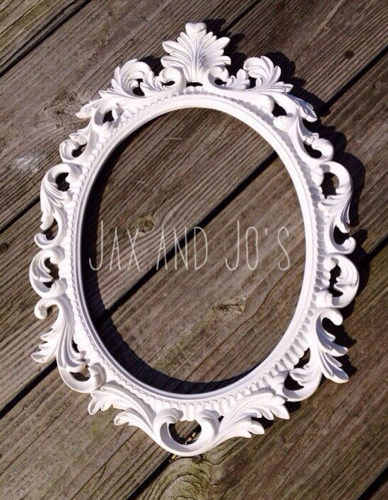 pick your color baroque frame oval open scatter ornate shabby chic antique vintage wedding french country