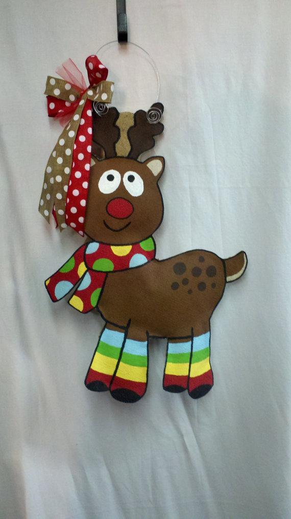 Burlap Door Hanger Adorable Christmas by SayItWithSassRoxboro