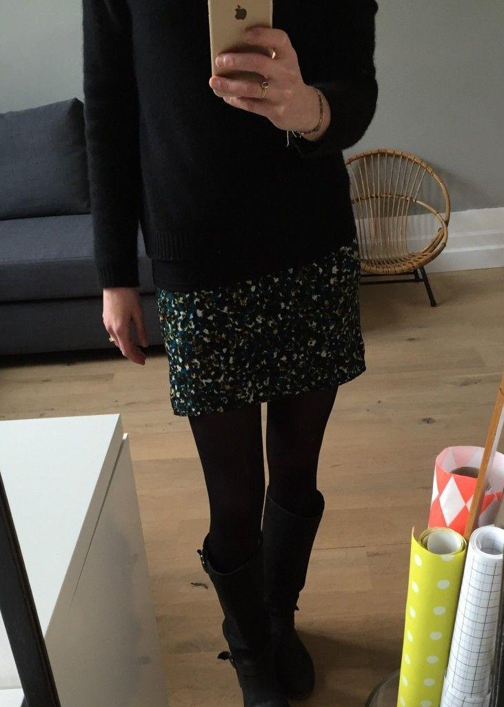 ma mini jupe chrono couture tuto couture jupe femme. Black Bedroom Furniture Sets. Home Design Ideas