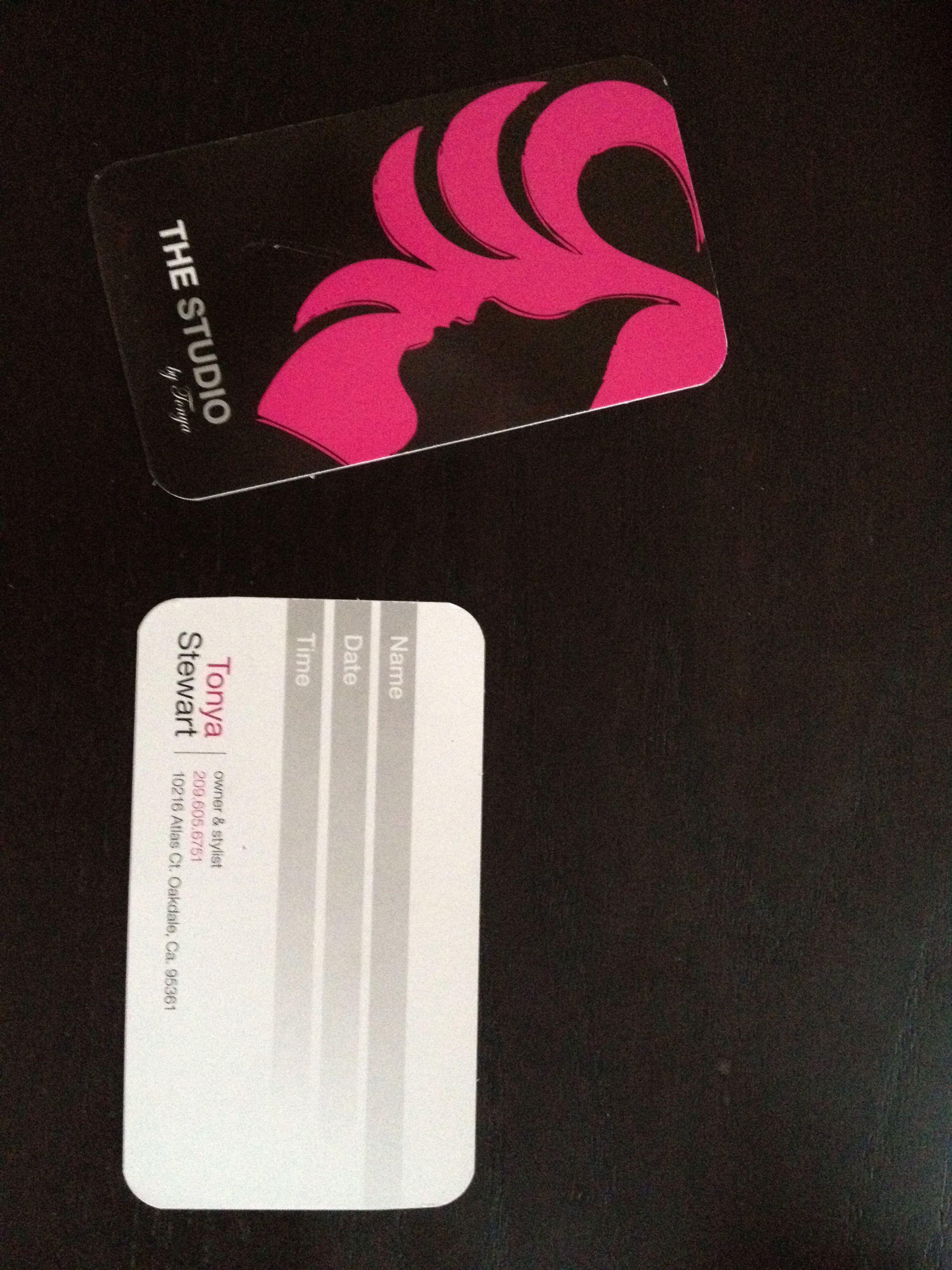 Tonya Stewart hair business cards | Print Products | Pinterest ...
