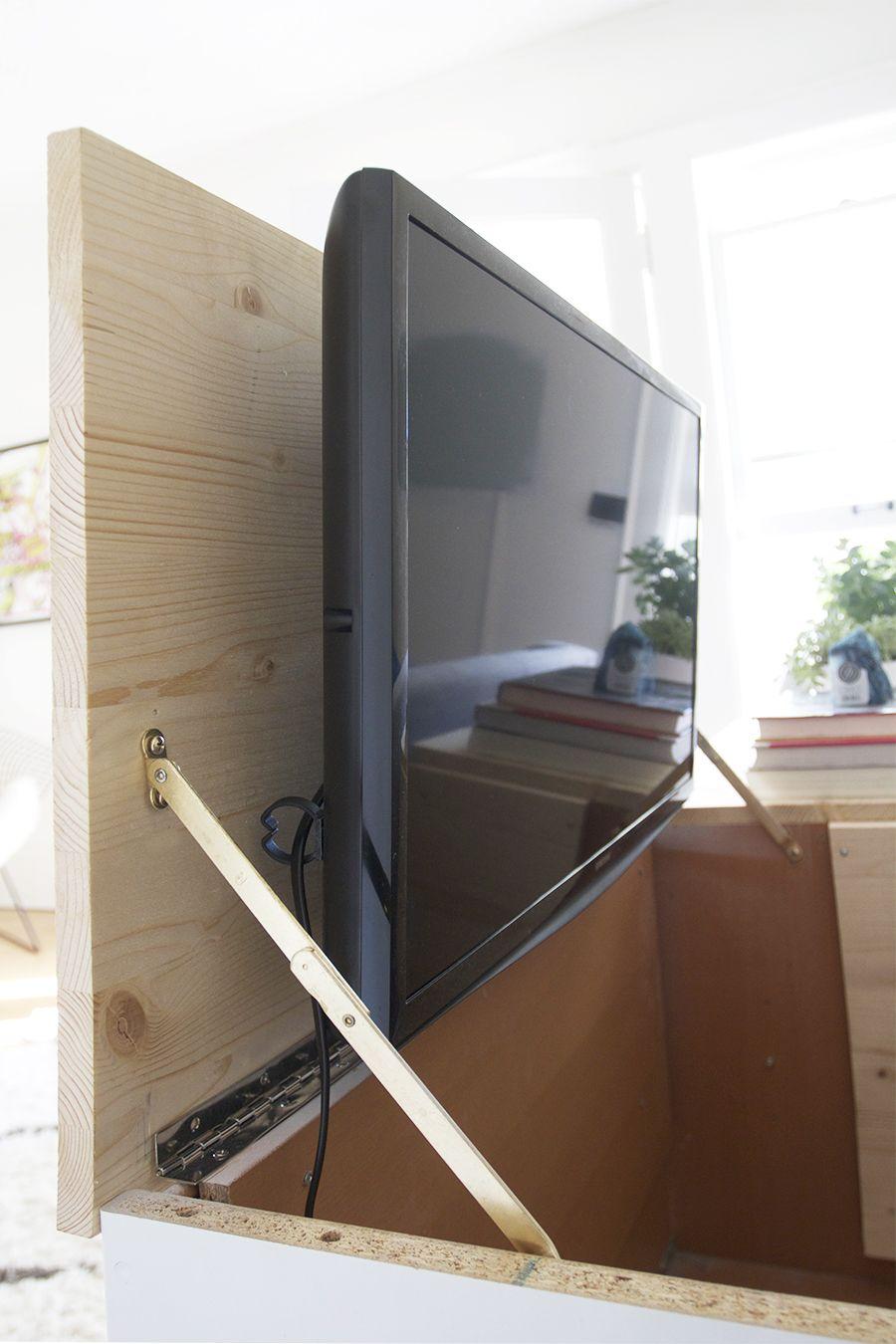 Transformer Meubles En Tv Invisible Storage T L Pinterest  # Meuble Tv Invisible