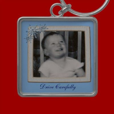 Drive Carefully Picture Key Chain