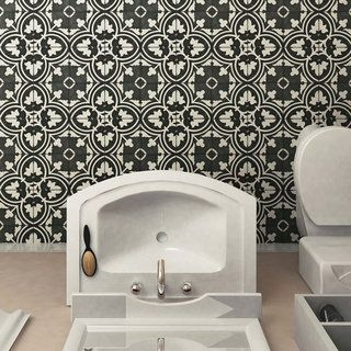 Shop for SomerTile 9.5x9.5-inch Art Black Porcelain Floor and Wall Tile (Case of 16). Get free delivery at Overstock.com - Your Online Home Improvement Shop! Get 5% in rewards with Club O!