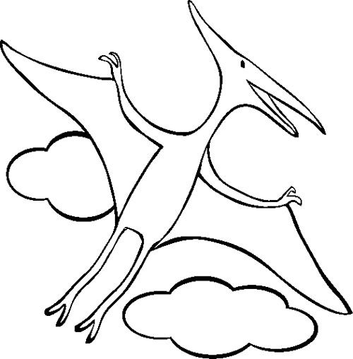 pterodactyl coloring page dinosaur coloring pages easy
