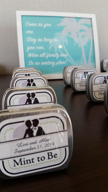 """Plaid & Paisley Weddings I Mint to Be Wedding Favors I Candy Favors I """"Mint to Be"""""""