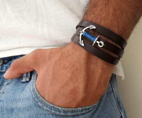 Relativ Men's Bracelet - Men's Anchor Bracelet - Men's Leather Bracelet  NP24