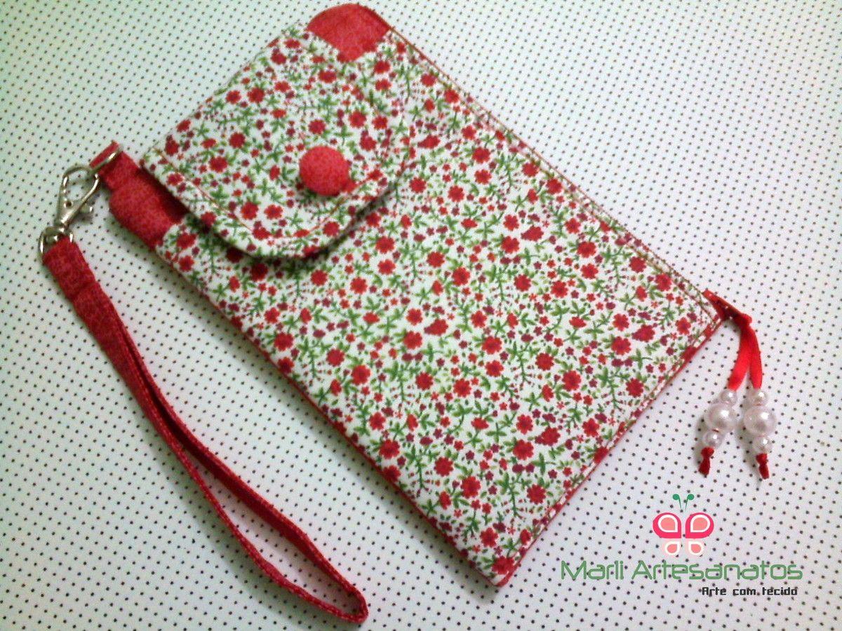 Bolsa Em Tecido Para Telemovel : Produto confeccionado com tecido algod?o e