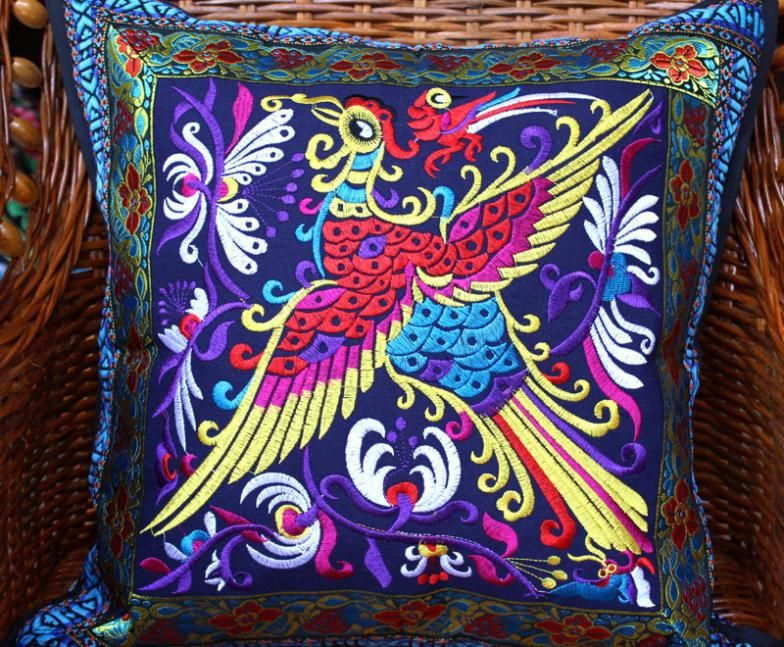 Presidente bordado NUEVO Phoenix sofá de algodón asiento del coche casa cojines decorativos funda de cojín para decorar el hogar al por mayor de ikea
