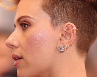 Helix Earring Piercing Gold Silver Hoops Huggie Small Cartilage Hoop