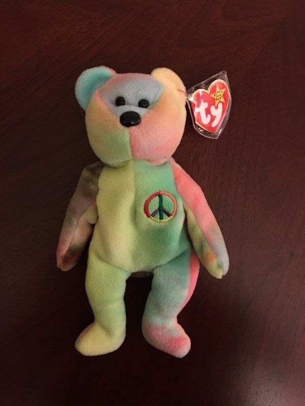 Rare 1996 Ty Beanie Baby Peace Bear Original Collectible with Tag Errors  6c40fc5649a