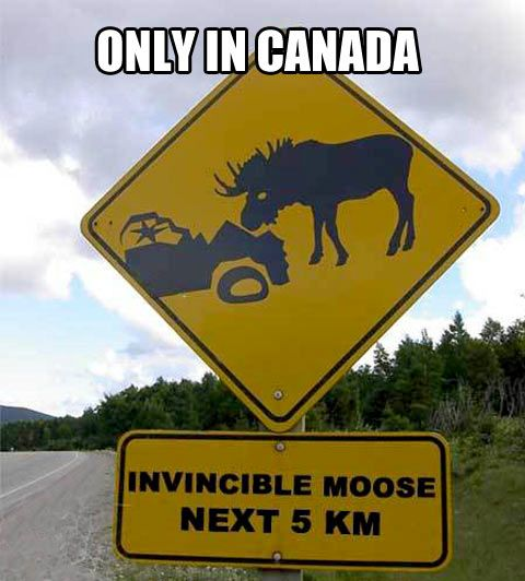 Canadian Road Sign Funny Road Signs Funny Pictures Car Jokes