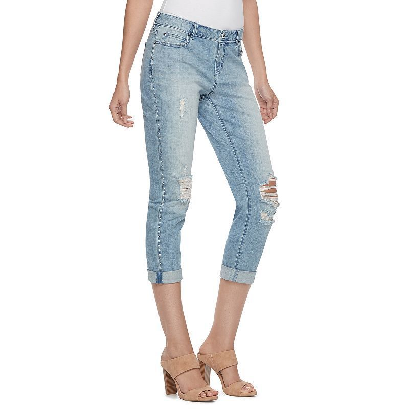special discount lovely luster designer fashion Petite Jennifer Lopez Embellished Boyfriend Jeans | Products ...