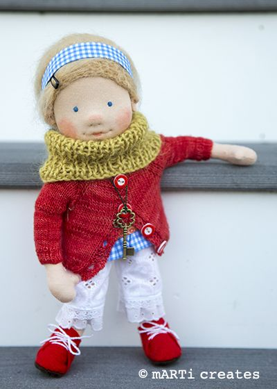 Nadine - a 12'' natural fiber art doll