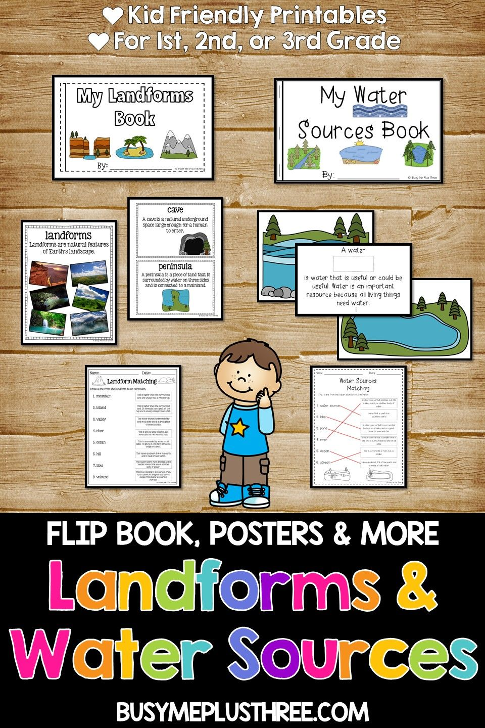 Bundles Landforms And Water Sources Earth Science 1st 2nd And 3rd Grade Earth Science Lessons Earth Science Water Sources [ 1440 x 960 Pixel ]