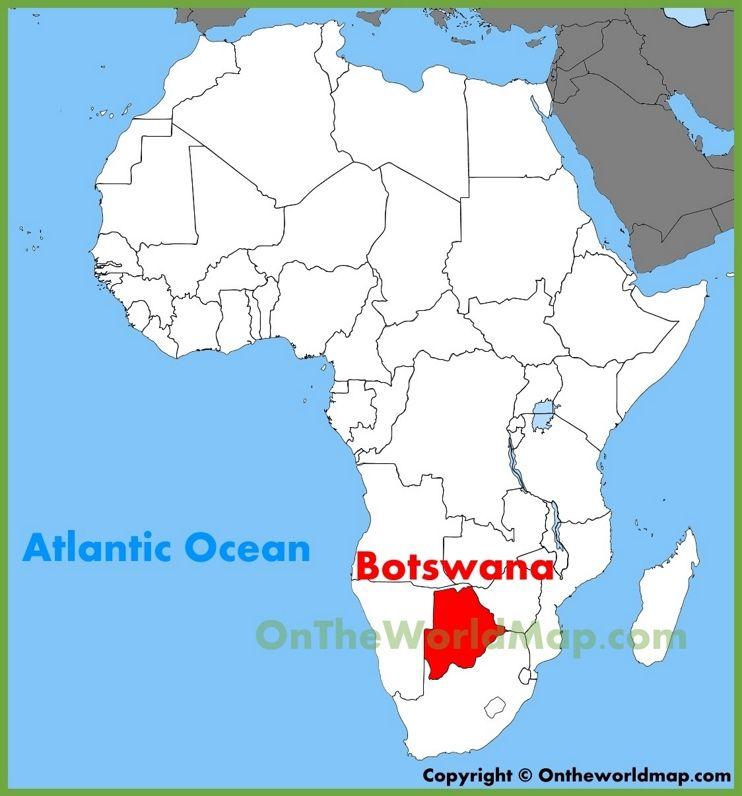 Botswana Africa Map Botswana location on the Africa map | South africa map, South